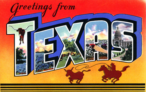 Greetings From Texas Vintagraph Prints