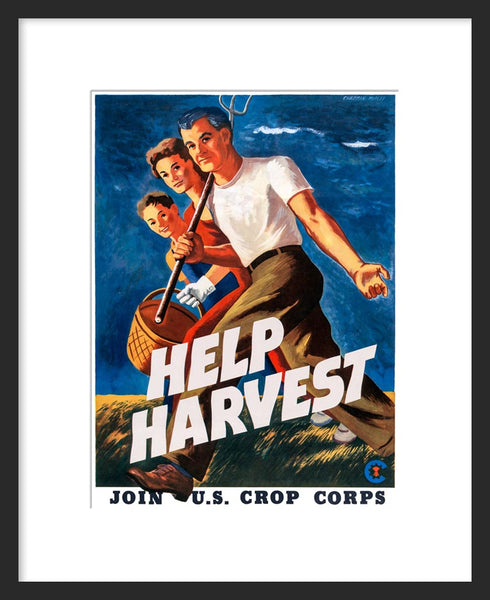 Help Harvest - Join U.S. Crop Corps framed poster