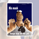 His Mask Keeps Him on the Job