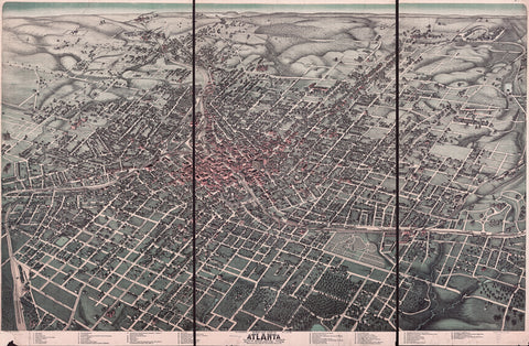 Historic 1892 Atlanta Map