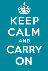 Keep Calm and Carry On (Aqua)