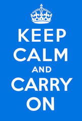 Keep Calm and Carry On (Blue)