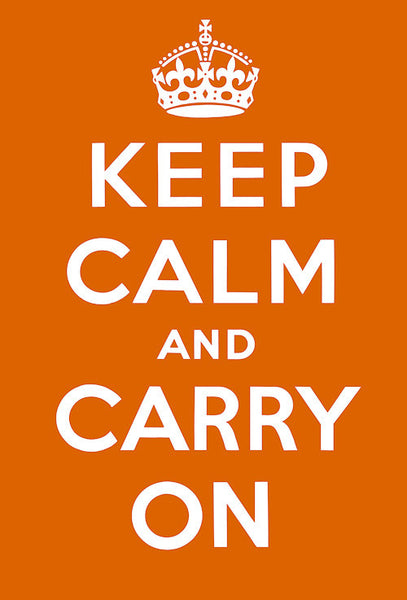 Keep Calm and Carry On (Orange)