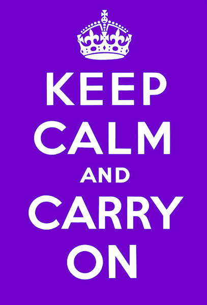 Keep Calm and Carry On (Purple)