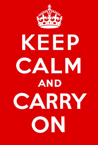 Keep Calm and Carry On Poster (Original Red)