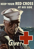Keep Your Red Cross at His Side WWI poster