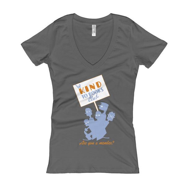 Be Kind to Books Club Women's T-Shirt Dark Grey