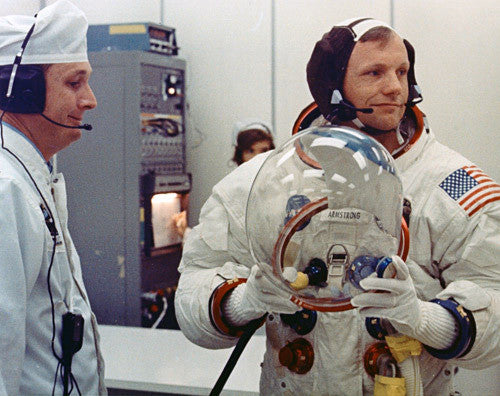 Neil Armstrong With Helmet