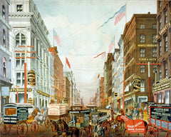 New York's dry goods district 1880s