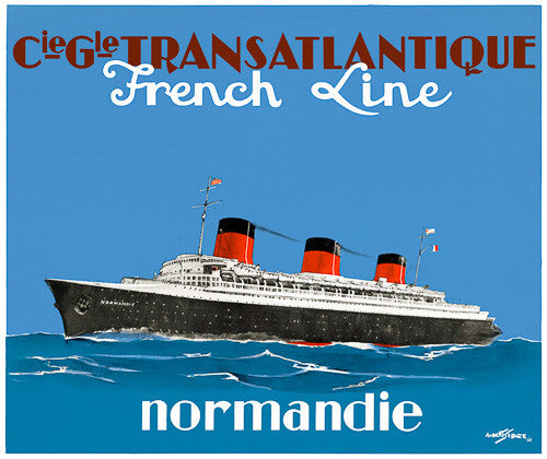 Normandie Vintage Travel Poster