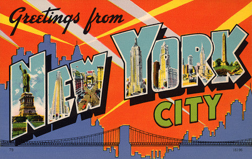 Greetings From New York City Vintagraph Prints