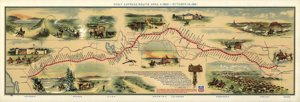Pony Express Map