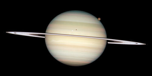 Quadruple Saturn Moon Transit