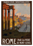 Roman Forum Vintage Travel Poster