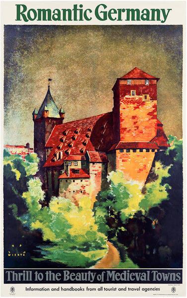 Romantic Germany Vintage Travel Poster