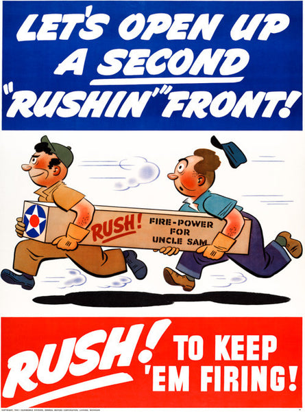 "Let's Open Up a Second ""Rushin'"" Front"