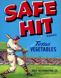 Safe Hit Texas Vegetables