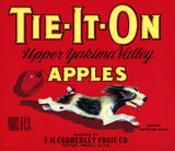 Tie-It-On Apples fruit crate label