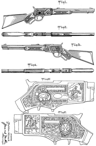 Toy Western Rifle - 1952 Patent