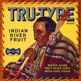 Tru-Type Brand Indian River Fruit