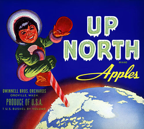 Up North Apples Crate Label