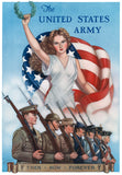 The United States Army: Then - Now - Forever WWII Poster