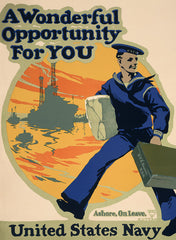 A Wonderful Opportunity WWI Navy poster