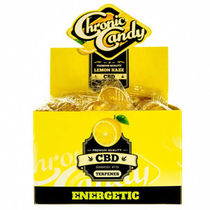 Chronic Candy CBD Lollipop Lemon Haze | CBD Edibles | AndHemp.com