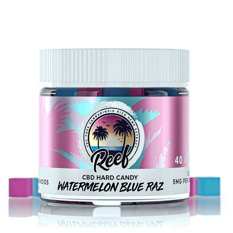 Reef CBD Hard Candy - Watermelon Blue Razz 200mg