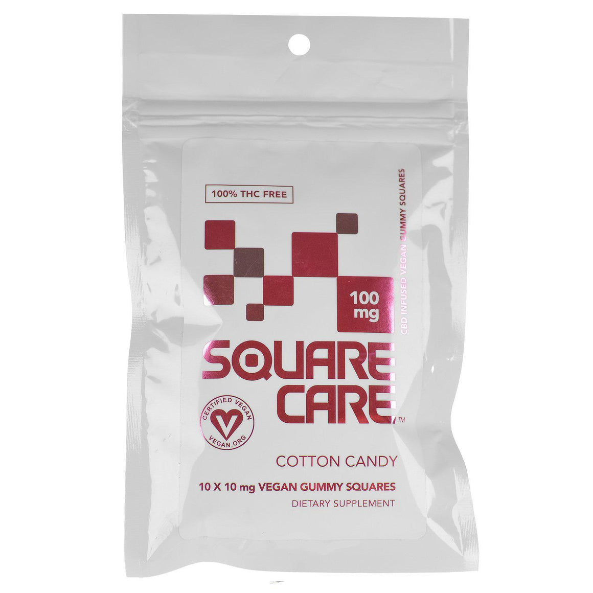Square Care Vegan Cotton Candy Gummies | CBD Edibles | AndHemp.com