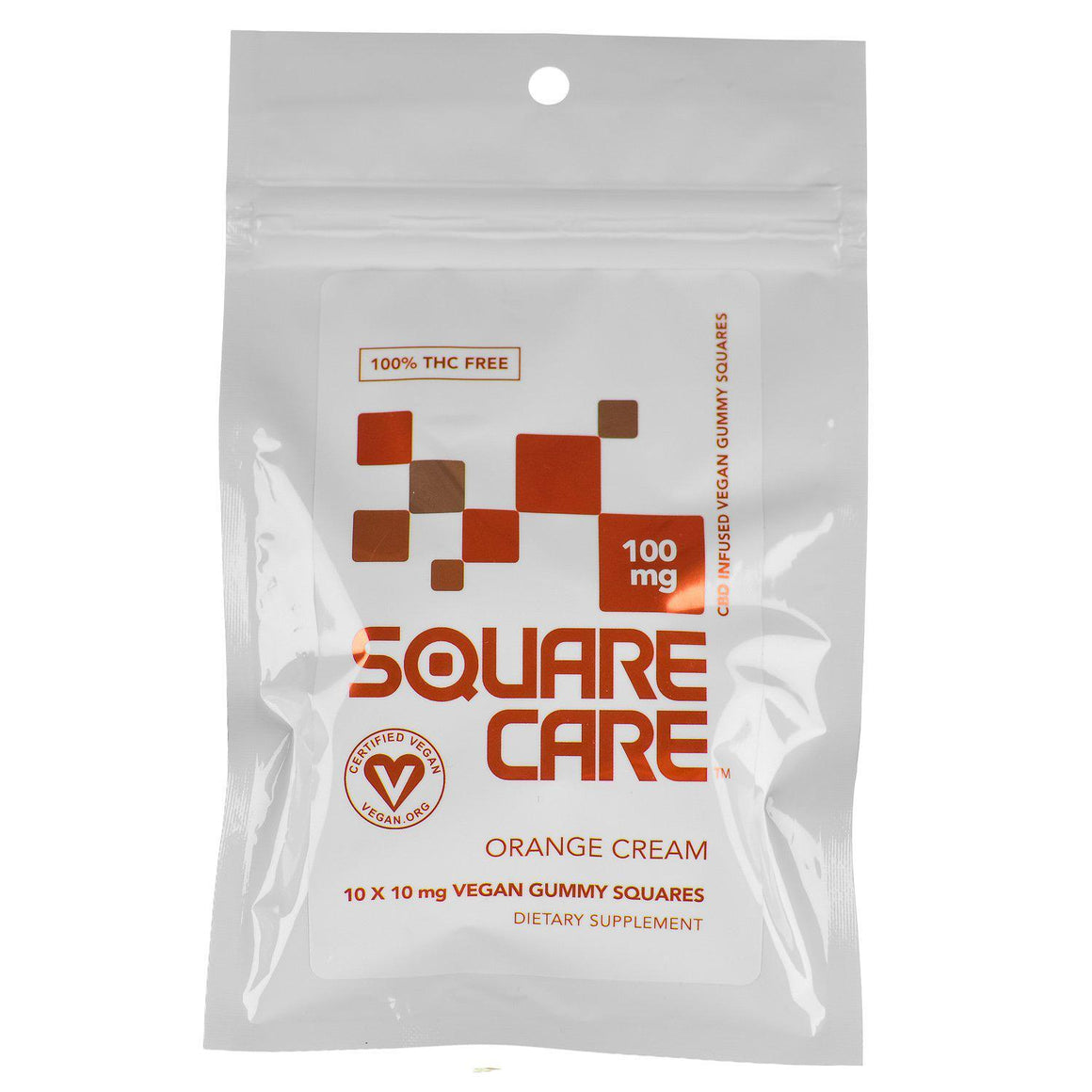 Square Care Vegan Orange Cream Gummies | CBD Edibles | AndHemp.com