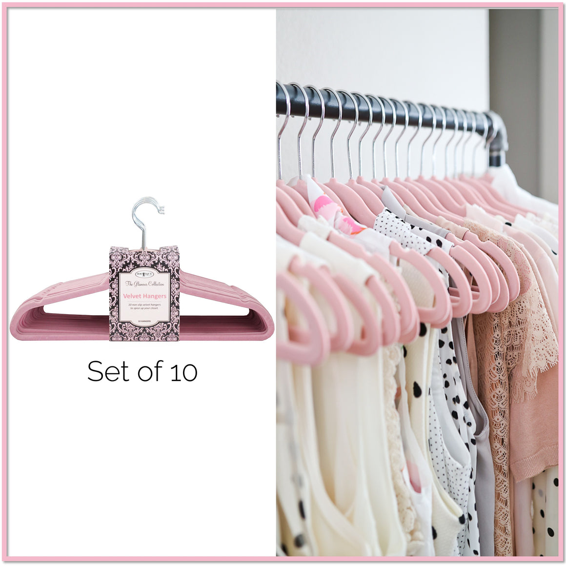 Glamour Velvet Hangers™ (Set of 10) - Boottique
