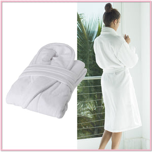 Cozy Terry-Plush White Robe - Boottique