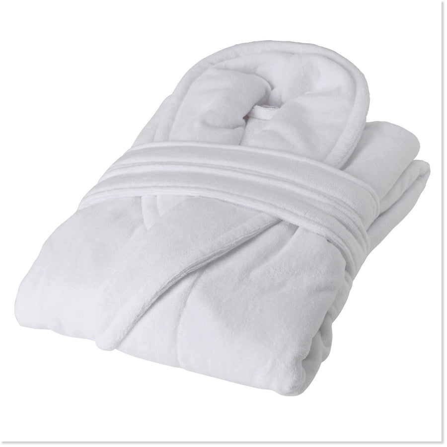 Terry-Plush White Robe for Men - Boottique