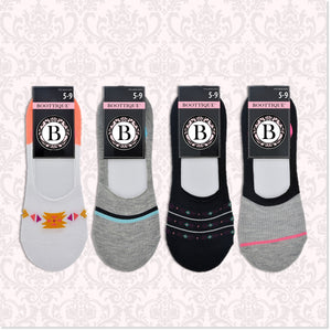 "Sporty Secret Socks™ - ""No Show"" Socks (Set of 4 Pair) - Boottique"