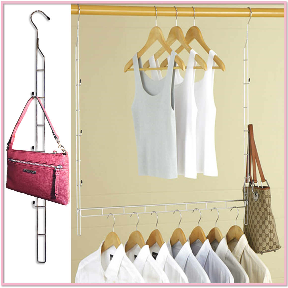 Adjustable Closet Rod Hanger