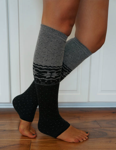 Boot Cozies™ Snowflake Leg Warmers- Angora and Luxuriously Soft