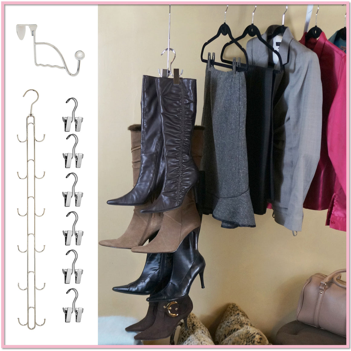 Boot Stax™ (Includes 6 Boot Hangers) - Amazon's Choice - Boottique