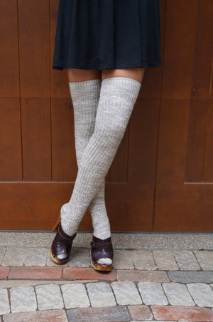 Luxe Legs™ Heathered Thigh-Highs - Boottique