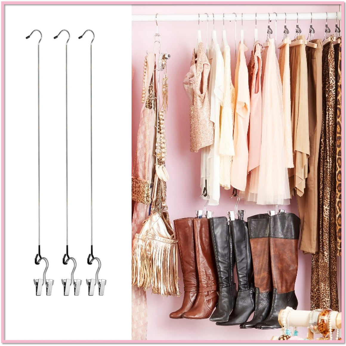 Easy Reach™ Extender System (3 Rods + 3 Boot Hangers)   Boottique