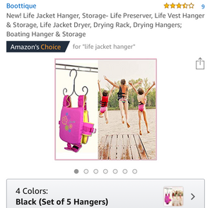 Life Jacket Hanger Dryer (Set of 5 Hangers) - Amazon's Choice