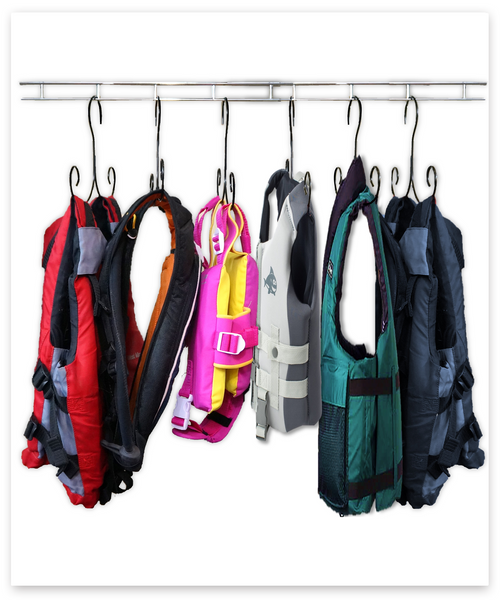 Life Jacket Hanger Dryer (Set of 6 Hangers)