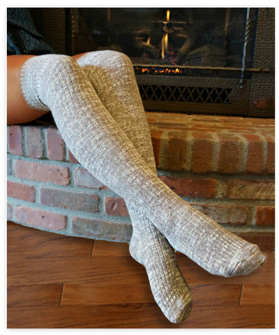 Luxe Legs™ Heathered Thigh-Highs