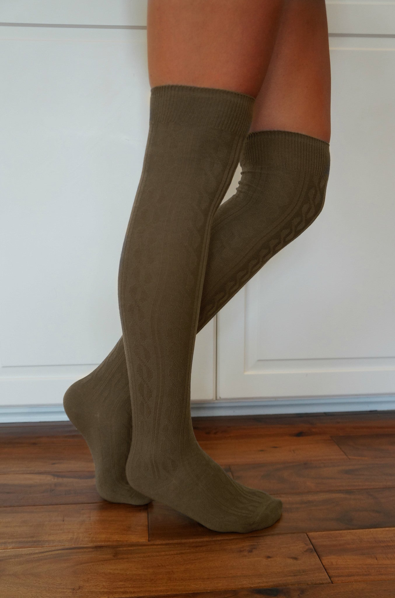 b2510c2617b Luxe Legs™ Cable Knit Thigh-Highs - Boottique