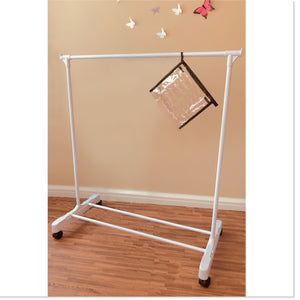 Children's Garment Rack™ - New Rolling Feature (Includes 10 Velvet Hangers) - Amazon's Choice - Boottique