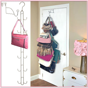 Purse Stax™ Purse Hanger -  Purse and Handbag Vertical Organizer