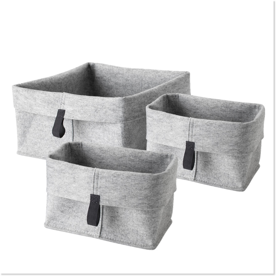 Folding Felt Storage Baskets (Set of 3) - Boottique