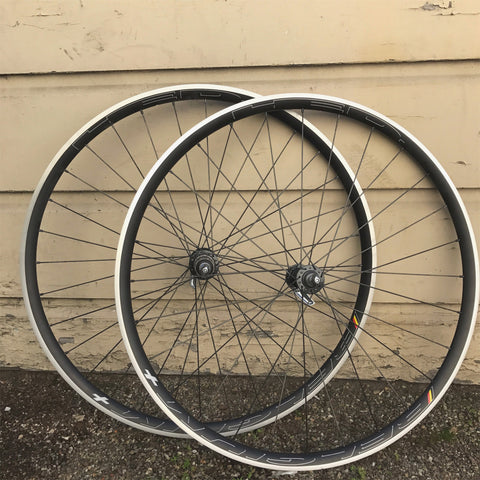 Wheel: 700c: Shimano Dura-Ace HED Belgium Plus 32H Rear HANDBUILT