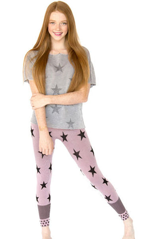 STARS TWEEN SHORT SLEEVE DANCE WEAR T-SHIRTS