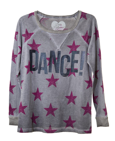 DANCE STARS TWEEN LONG SLEEVE DANCE WEAR SWEATSHIRT